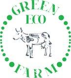 Azienda agricola della mucca di Eco Illustrazione Vettoriale