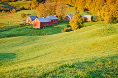 Azienda agricola della Nuova Inghilterra in autunno Fotografia Stock Libera da Diritti