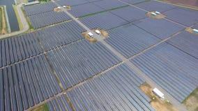 Azienda agricola della pila solare Fotografie Stock Libere da Diritti