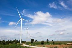 Azienda agricola delle turbine di vento Fotografie Stock