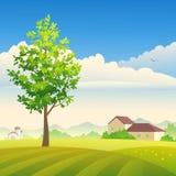 Azienda agricola di estate royalty illustrazione gratis