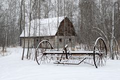 Azienda agricola di inverno Fotografie Stock