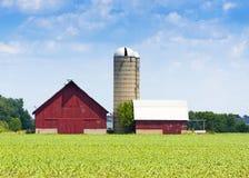 Azienda agricola di legno rossa Fotografia Stock
