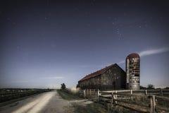 Azienda agricola di luce della luna Fotografia Stock Libera da Diritti