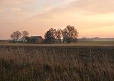 Azienda agricola di mattina Fotografia Stock Libera da Diritti