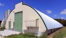 Azienda agricola di pollo della tettoia Fotografia Stock