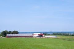 Azienda agricola di tempi moderni sull'isola Moen, Danimarca Fotografie Stock