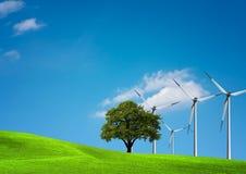 Azienda agricola di vento Fotografie Stock Libere da Diritti