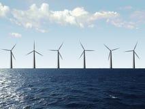 Azienda agricola di vento Immagine Stock Libera da Diritti