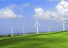 Azienda agricola di vento Cornovaglia Inghilterra Immagine Stock Libera da Diritti