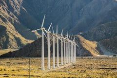 Azienda agricola di vento del San Gorgonio Fotografia Stock Libera da Diritti