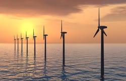 Azienda agricola di vento di terra Immagine Stock