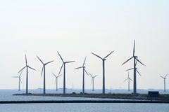 Azienda agricola di vento litoranea Fotografie Stock Libere da Diritti