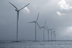 Azienda agricola di vento in mare aperto Immagine Stock Libera da Diritti
