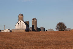 Azienda agricola dopo la raccolta fotografie stock libere da diritti