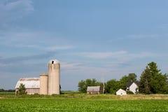 Azienda agricola familiare abbandonata con lo spazio della copia Fotografia Stock Libera da Diritti