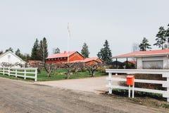 Azienda agricola finlandese Fotografie Stock