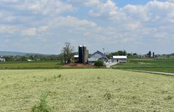 Azienda agricola mennoniti trovata nella contea di Lancaster Pensilvania fotografia stock