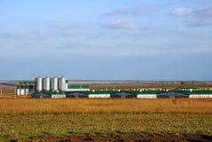 Azienda agricola moderna Immagine Stock Libera da Diritti