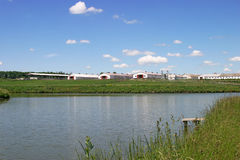 Azienda agricola moderna Fotografie Stock