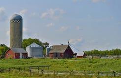 Azienda agricola moderna nel Nebraska Fotografia Stock Libera da Diritti