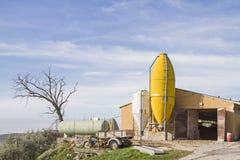 Azienda agricola moderna in Veneto in Italia Immagini Stock