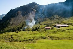 Azienda agricola nel Tirolo Fotografia Stock Libera da Diritti