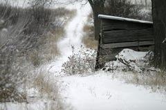 Azienda agricola nell'inverno Fotografie Stock