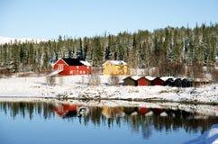 Azienda agricola nell'inverno Immagine Stock Libera da Diritti