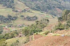 Azienda agricola nella montagna Fotografia Stock