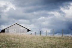 Azienda agricola nella tempesta Fotografia Stock