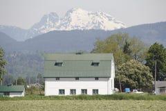 Azienda agricola nelle montagne Immagini Stock