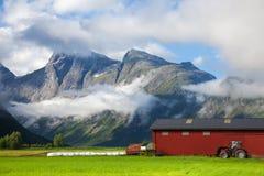 Azienda agricola in Norvegia Immagini Stock Libere da Diritti