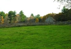 Azienda agricola in Nuova Inghilterra del Nord immagini stock