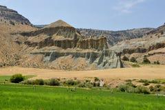 Azienda agricola Oregon orientale fuori di John Day Monument Painted Hills Immagine Stock Libera da Diritti