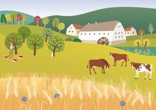 Azienda agricola organica royalty illustrazione gratis