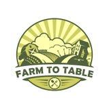 Azienda agricola per presentare l'emblema di vettore di stile di eco illustrazione vettoriale