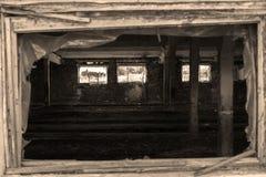 Azienda agricola rovinata, annata Fotografia Stock Libera da Diritti