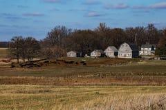 Azienda agricola rurale rustica dello Iowa Immagini Stock Libere da Diritti