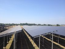 Azienda agricola solare Immagini Stock Libere da Diritti