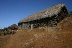Azienda agricola sulle montagne Fotografia Stock