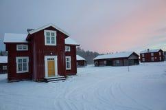 Azienda agricola svedese tradizionale fotografie stock