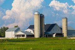 Azienda agricola tipica della contea di Lancaster Amish Immagini Stock Libere da Diritti