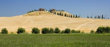 Azienda agricola toscana a Siena Fotografie Stock Libere da Diritti