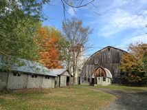 Azienda agricola a Upstate New York Fotografia Stock