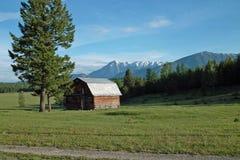 Azienda agricola, valle del fiume Columbia, BC, il Canada Fotografia Stock Libera da Diritti