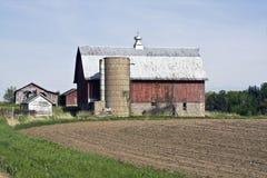 azienda agricola vecchio Wisconsin Fotografie Stock Libere da Diritti
