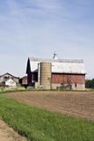 azienda agricola vecchio Wisconsin Fotografia Stock