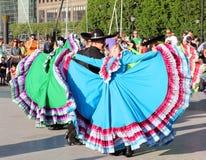 Azienda di ballo messicana di Calpulli Fotografie Stock Libere da Diritti