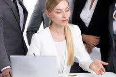 Azienda leader femminile immagine stock